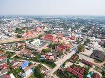 Vogelperspektive von Wat Si Don Chai-Tempel Stockbild
