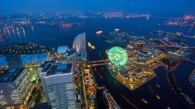 Vogelperspektive von Yokohama-Stadt Lizenzfreies Stockbild