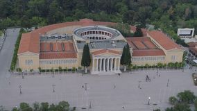 Vogelperspektive von Zappeion in Athen stock video