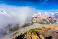 Vogelperspektive von Zentralasien-Landschaft lizenzfreies stockfoto