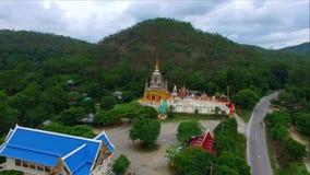 Vogelperspektive Wat Maeklangluang, jomthong, chiangmai, Thailand stock video footage