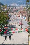 Vogelperspektive zu San Cristobal de Las Casas, Mexiko lizenzfreies stockbild