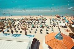 Vogelperspektive zum adriatischen Meer in Durres Lizenzfreies Stockbild