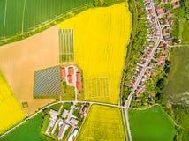 Vogelperspektive zur tschechischen Landschaft Lizenzfreies Stockfoto