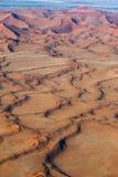 Vogelperspektivedünen von Sossusvlei Nationalpark Namib-Naukluft afrika lizenzfreie stockbilder