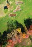 Vogelperspektivegolfplatz lizenzfreies stockfoto