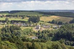 Vogelperspektivelandschaft nahe Fleischbrühe in Belgien Lizenzfreies Stockfoto