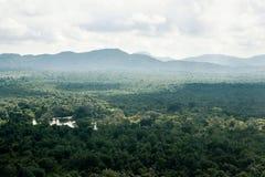 Vogelperspektivelandschaft vom L?wefelsen Sigiriya lizenzfreies stockfoto