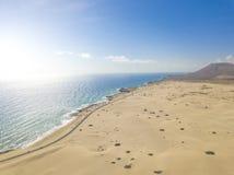 Vogelperspektiven der Insel von Fuerteventura stockfotografie