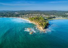 Vogelperspektiven von Batemans-Bucht Australien lizenzfreies stockbild