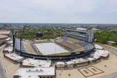 Vogelperspektiven von Ross-Ade Stadium On The Campus des Purdue University stockfotografie