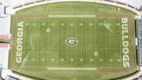 Vogelperspektiven von Sanford Stadium stockfotos
