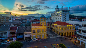 Vogelperspektiveschnitt in Phuket-Stadt Lizenzfreies Stockbild