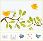 Vogelpost Lizenzfreies Stockfoto