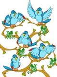 Vogels stock illustratie