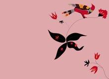 Vogels & Orchideeën Royalty-vrije Stock Foto