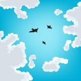 Vogels in de hemel stock illustratie