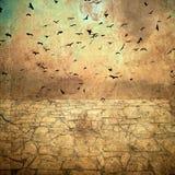 Vogels in de hemel vector illustratie