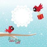 Vogels in de Winter stock illustratie