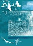 Vogels die in de herfst weggaan Stock Afbeelding