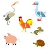 Vogels en andere dieren royalty-vrije illustratie