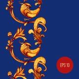 Vogels en bloemen abstract vector naadloos patroon Royalty-vrije Stock Foto