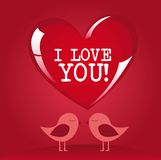 Vogels en liefde stock illustratie