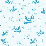 Vogels en muziek Stock Foto's