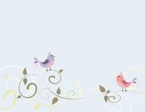 Vogels en Wervelingen Stock Afbeeldingen