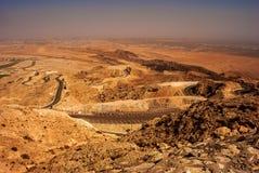 Vogels eyeview van Jebel Hafeet stock fotografie