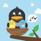 Vogels in het Nest royalty-vrije illustratie