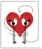 Vogels in liefde Stock Afbeelding