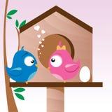 Vogels in Liefde Stock Foto's