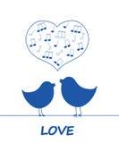 Vogels in liefde. Stock Foto