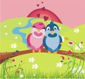 Vogels in liefde Stock Afbeeldingen