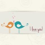 Vogels in liefde vector illustratie