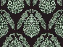 Vogels op Boom Naadloos Patroon Royalty-vrije Stock Afbeelding