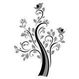 Vogels op de boom Stock Foto's