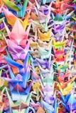 Vogels op draden Stock Afbeeldingen