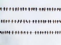 Vogels op elektrische kabels Royalty-vrije Stock Foto's