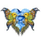 Vogels Surreal Art. stock illustratie