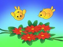 Vogels in Tuin vector illustratie