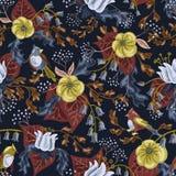 Vogels in tuin Royalty-vrije Illustratie