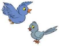 Vogels (vector klem-kunst) Royalty-vrije Stock Afbeeldingen
