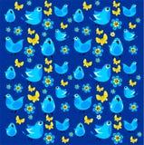 Vogelsachtergrond Stock Foto's
