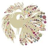 Vogelschattenbild auf Weiß Lizenzfreie Stockfotos