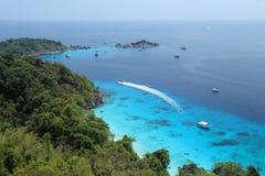 Vogelschau von Similand-Inseln Stockfotografie