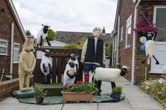 Vogelscheuche am britischen Vogelscheuchen-Festival Stockbilder