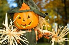 Vogelscheuche Halloween-Jack-O-lanten - 2 Lizenzfreies Stockbild