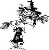 Vogelscheuchenhalloween-Karikatur-Vektor Clipart Lizenzfreie Stockfotografie